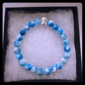 Jewelry - Blue & White Jade Stone Bracelet
